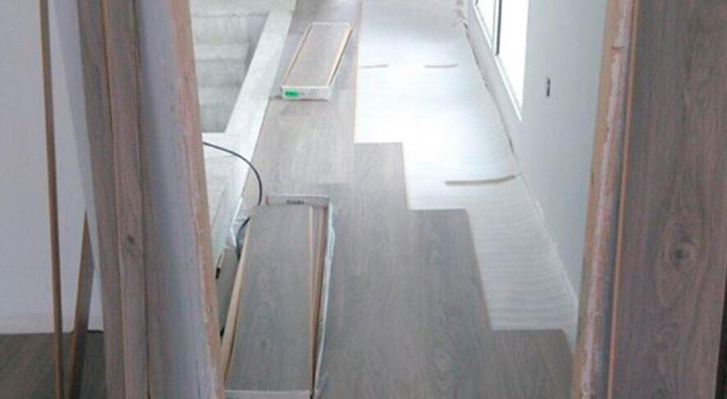 Instalación madera encolada